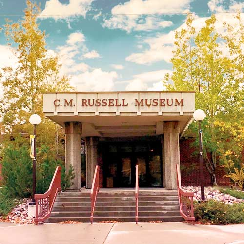 Front of CM Russell Museum